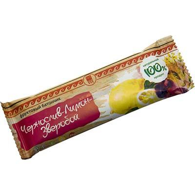 Батончик фруктовый «Чернослив-лимон-зверобой» 1